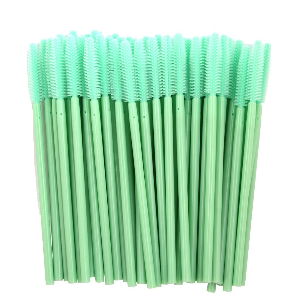 ADAMAI Professional Disposable Silicone Eyelash Mascara Brushes Wands Applicator Makeup Kits (Pack of 1000, Mint Green)