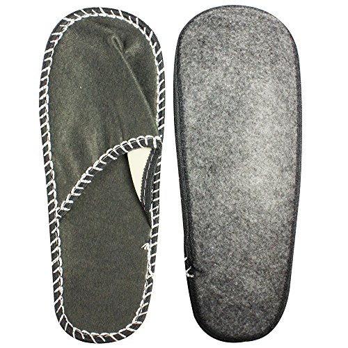 COM de Four® Pantuflas para invitados Juego de 5piezas, zapatillas invitados Zapatillas, talla única, negro redondo