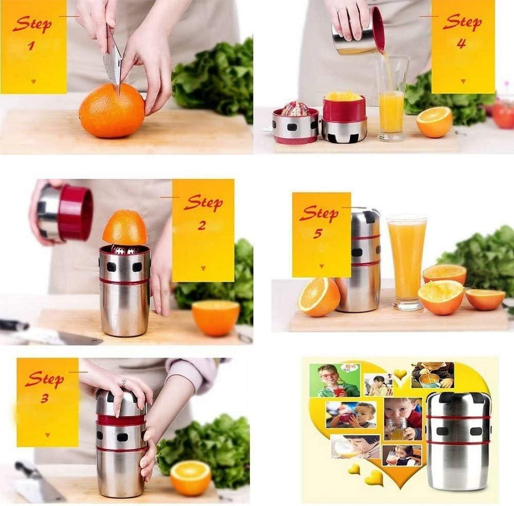Hohe Festigkeit Handpresse Saftpresse Orangen-Saft Limetten-Saft Zitronenpresse Mini Edelstahl f/ür Zitronensaft COOLAPA K/üChe Manuelle Entsafter Korrosionsschutz