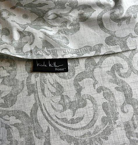 Nicole Miller Vintage Damask Ornate Scroll Luxury Duvet