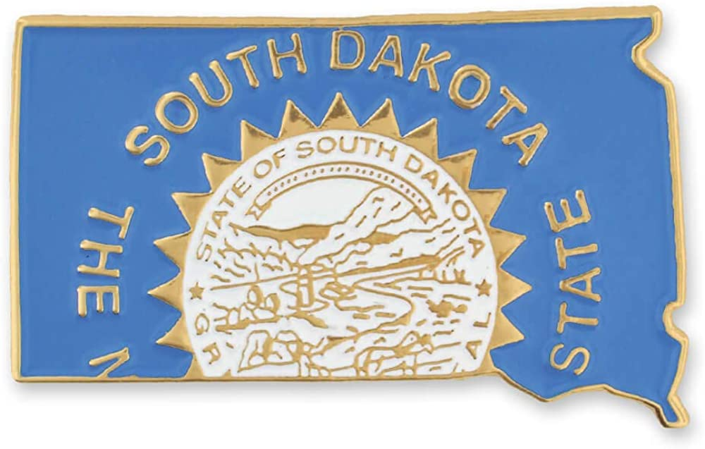 PinMart State Shape of South Flag Popularity Lapel and Award Dakota