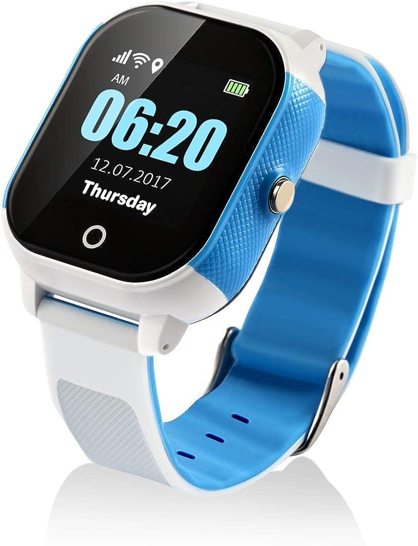 Reloj Inteligente para niños con GPS y Pantalla táctil, Resistente al Agua, con Control Remoto de Voz, Control geográfico y Seguimiento de la Actividad