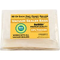 OutOfAir Vacuum Sealer Bag Combo Packs for Foodsaver and All Other Savers. 33% Thicker than Others, BPA Free, FDA Approved