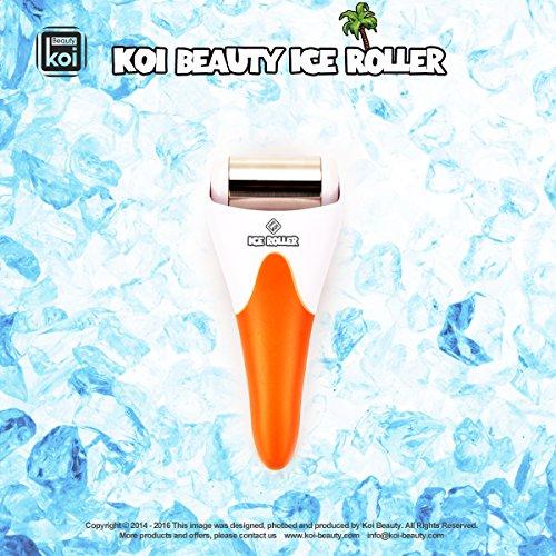 Koi Beauty Derma Haut Ice Walzenkühlung für Gesicht Körpermassage Augen Puffiness Behandlungen und Cold Packs Material Edelstahl Orange