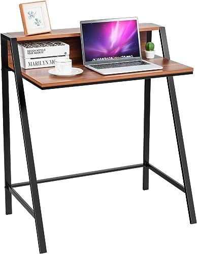Tangkula 2 Tier Computer Desk