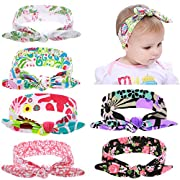 inSowni Boho Floral Stretchy Self Tie Headband Bulk for Newborn Infant Baby Girl Kids Toddlers