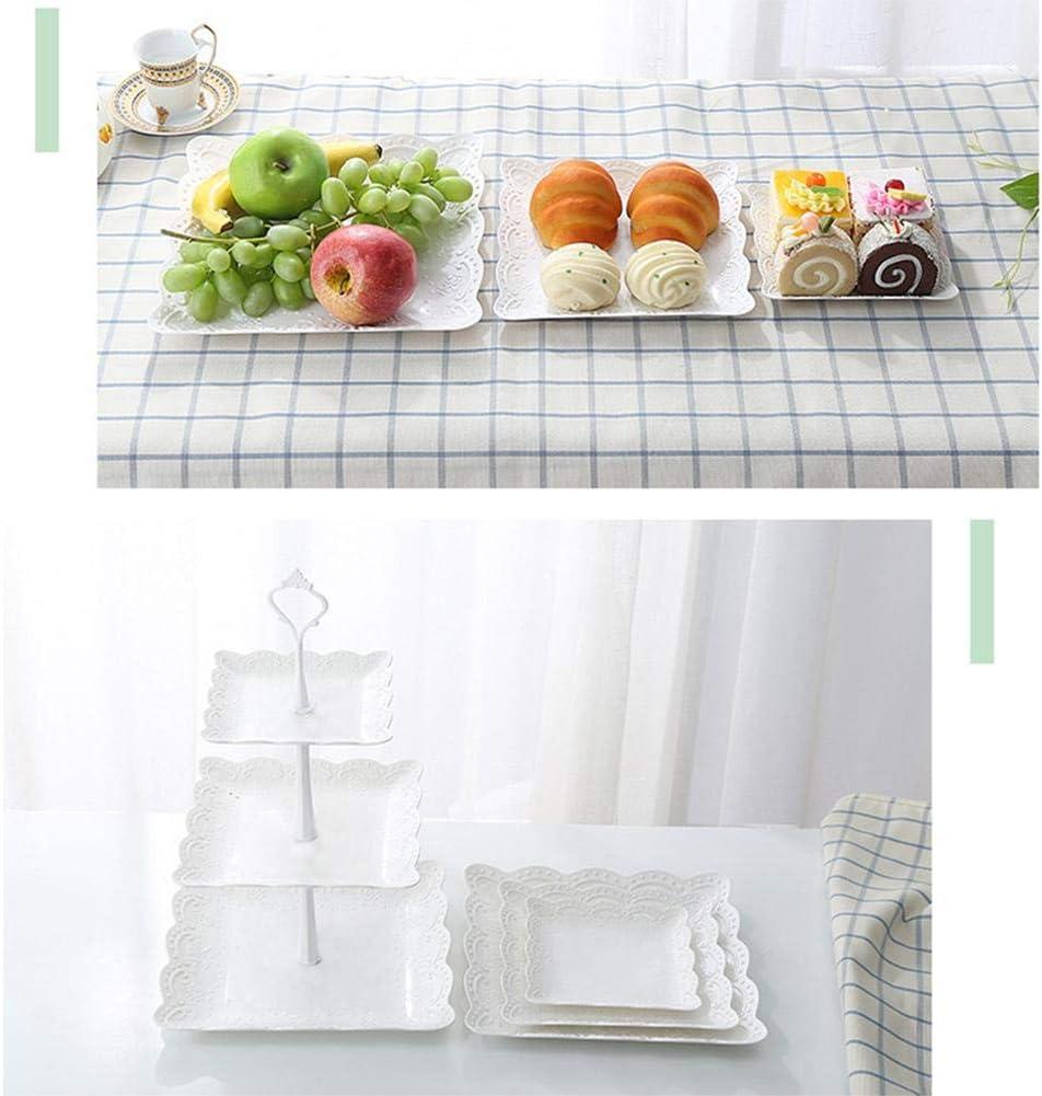 SmallPocket Soporte De La Torta De Tres Capas Frutero con Pisos Desmontable Postre De Frutas Estante De Almacenamiento De Verduras