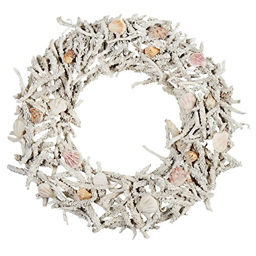 Coral-Reef-175-Inch-Wreath-for-Interior-Spring-Summer-Seasonal-Coastal-Decor-Coral-Reef-and-Real-Seashells