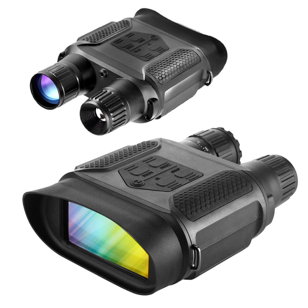 Slsy Digital Night Vision Hunting Binoculars, Infrared Night Vision Hunting Binocular with Large Viewing Screen, Camera Camcorder Function Can Take 5mp Photo 640p Video from 400m 1300ft