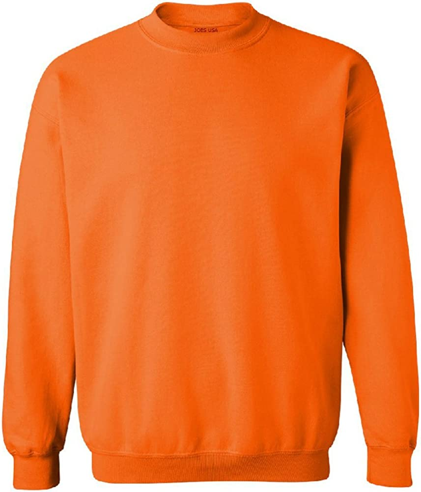 Safety Green and Orange Crewneck Sweatshirts Sweatshirts in Sizes S-5XL Joes USA
