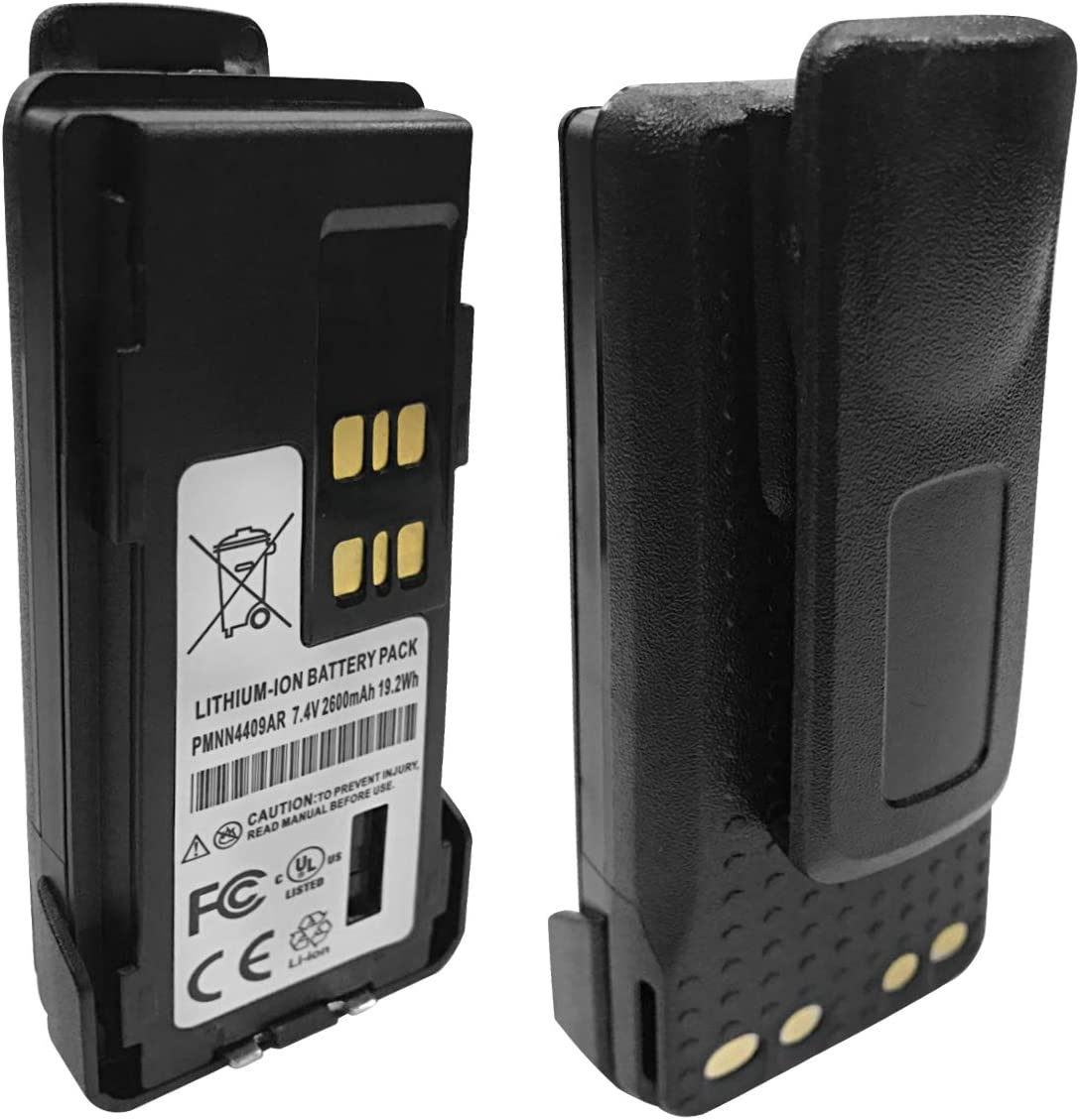 PMNN4409 Walkie Talkie Battery Replacement for Motorola DGP5050 DGP5550 DGP8050 DGP8550 APX4000 AXP2000 XPR7380e XPR7550e XPR7580e Portable Radio: Home Audio & Theater