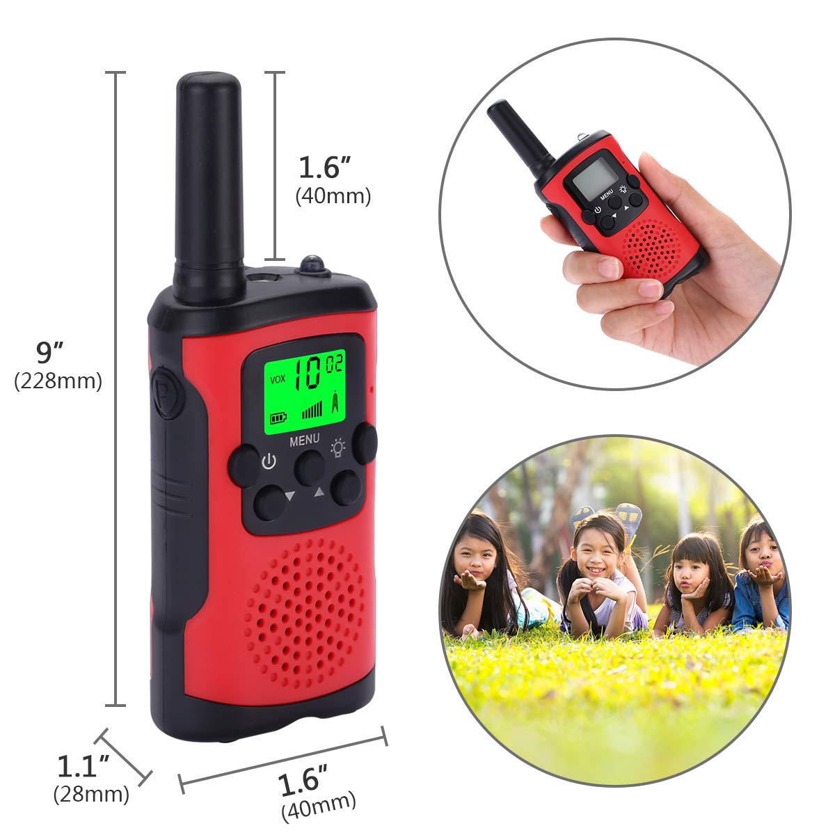 Acehome Kids Walkie Talkies with 2Pcs Whistles /& 2Pcs Lanyards Two Way Radio Long Range Walkie Talky Toy with Flashlight for Boys Girls Birthday Children Day //Christmas Day Gift