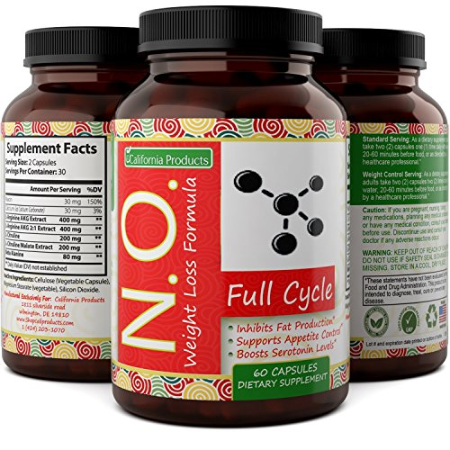 Nitric Oxide Booster Complex with L-Arginine & L-Citrulline - Amplifier for Increased Endurance - Powerful Antioxidant - Weight Loss Support Vitamin for Men Women Teens