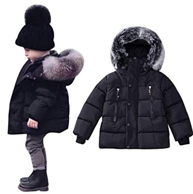 60d077393 KingWo Toddler Baby Boys Autumn Winter Down Jacket Coat Warm Padded Thick  Outerwear Clothes
