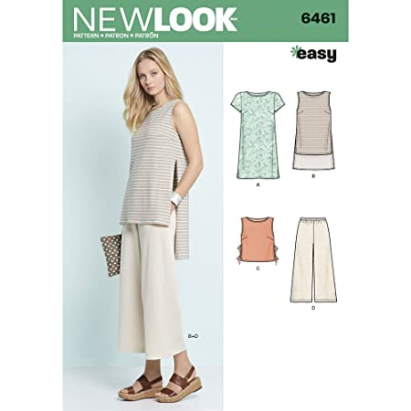 New Look Sewing Pattern 6461A Misses\' Dress, Tunic, Top and Cropped ...