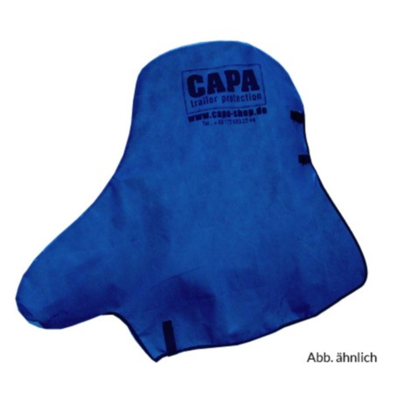 Deichselschutz blau CAPA Deichselschutz für PKW Anhängerkupplung und Stützrad Deichsel Schutzhülle Abdeckung Abdeckplane in blau