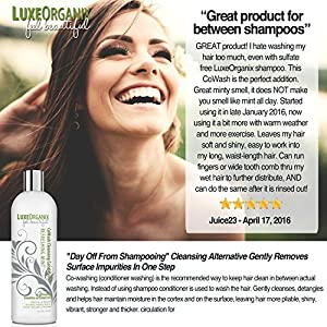 """Cleansing Conditioner CoWash - Sulfate Free - Best For Curly, Colored, Dry, or Damaged Hair - """"No Poo"""" Conditioning Shampoo Alternative 16 fl oz"""