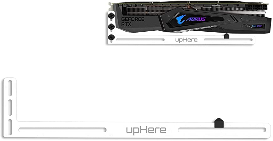 upHere Graphics Card GPU Brace Support Video Card Sag Holder//Holster Bracket Single or Dual Slot Cards Anodized Aerospace Aluminum Blue//GL02