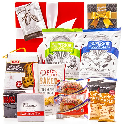 Hampers Christmas Gifts - Hamper World Christmas Gift Basket with ANZAC Biscuits