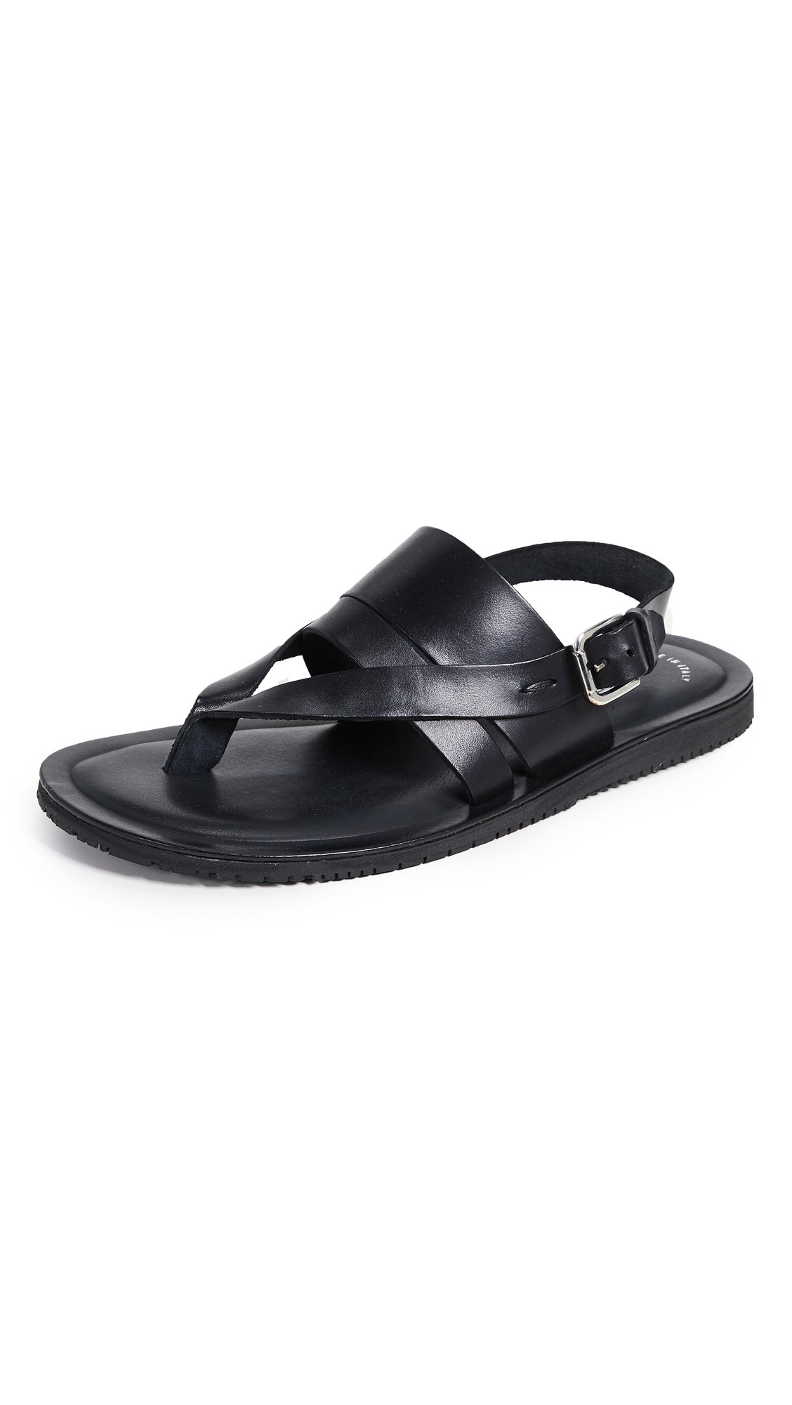Kenneth Cole New York Men's Reel-ist Flat Sandal, Black, 8 M US
