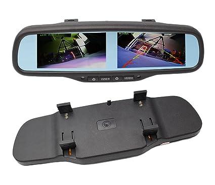 Amazon com: 800x480 HD Dual Screen Mirror Monitor, 4 3