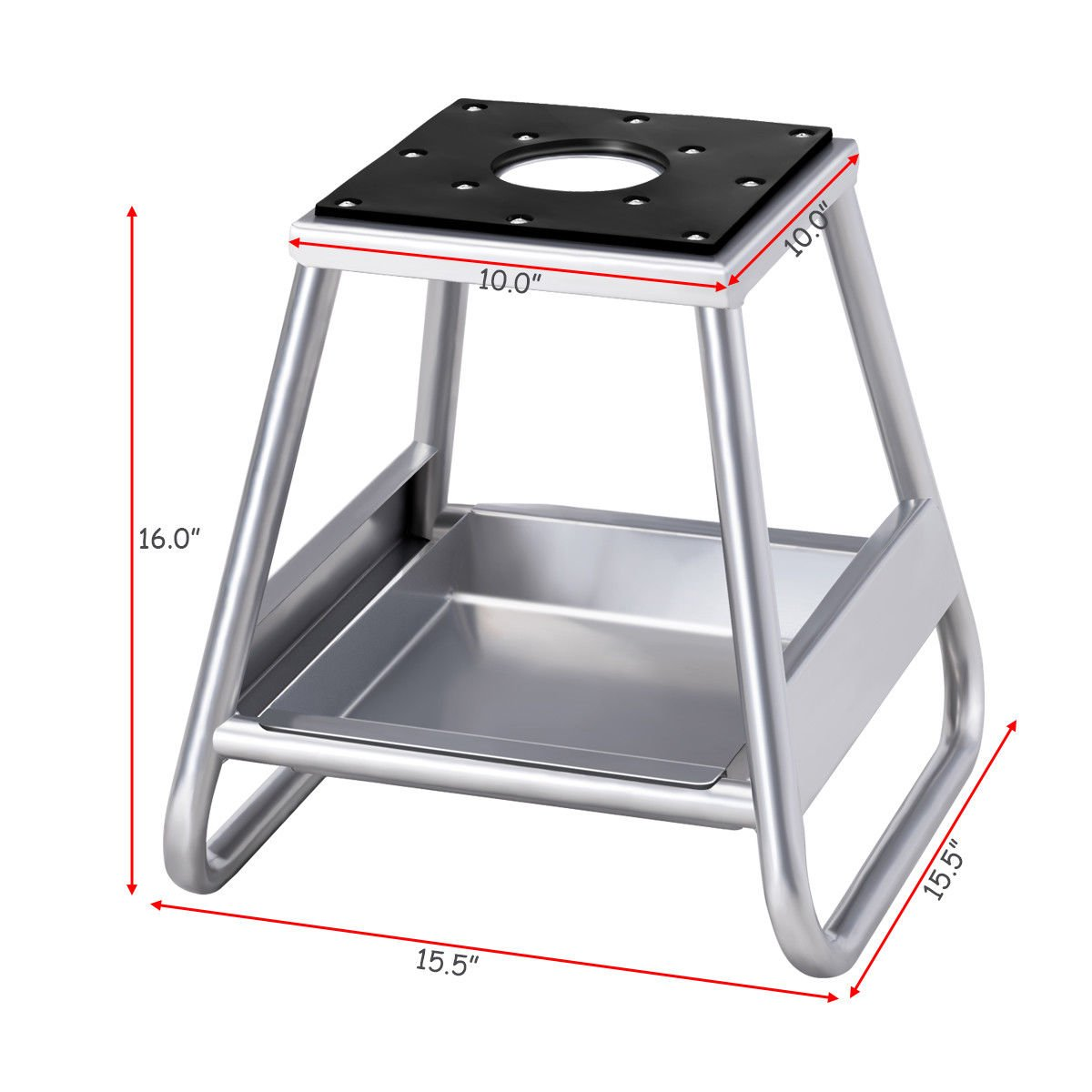 Goplus Motorcycle Motocross Dirt Bike Panel Stand Hoist Maintenance Lift Jack 1000LB Capacity (with Removable Oil Pan) by Goplus (Image #3)