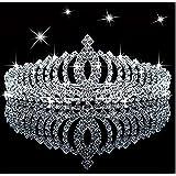 Novelty Princess Tiara Sparkle Crystal Rhinestone Kid's Crown Birthday Glitter Tiara with Comb