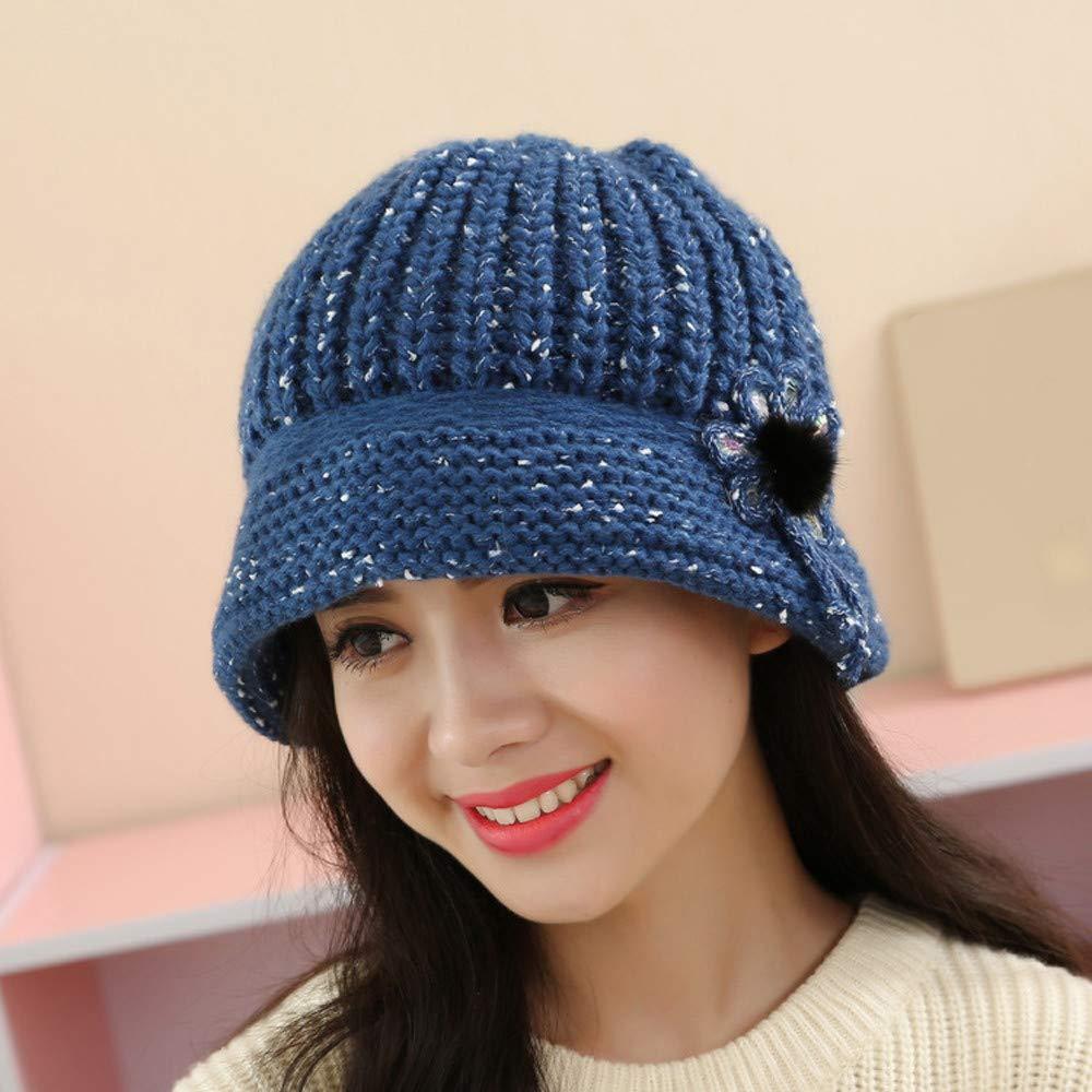 e2f807aca4b Cloche Round Hat for Women 1920s Fedora Bucket Vintage Hat Flower Accent  (Blue)  Arts