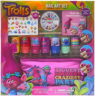 Townley Girl Dreamworks Trolls Nail Art Set, Includes: 240 Nail Gems, 42 Stickers, 7 Polishes, Carrying Bag - 10154695 , B01MDO1984 , 285_B01MDO1984 , 623501 , Townley-Girl-Dreamworks-Trolls-Nail-Art-Set-Includes-240-Nail-Gems-42-Stickers-7-Polishes-Carrying-Bag-285_B01MDO1984 , fado.vn , Townley Girl Dreamworks Trolls Nail Art Set, Includes: 240 Nail Gems,