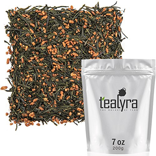 Tealyra - Gen Mai Cha Supreme - Japanese Loose Leaf Tea - Organically Grown - Genmaicha Green Tea with Brown Roasted Rice - Caffeine Level Low - 200g (7-ounce)