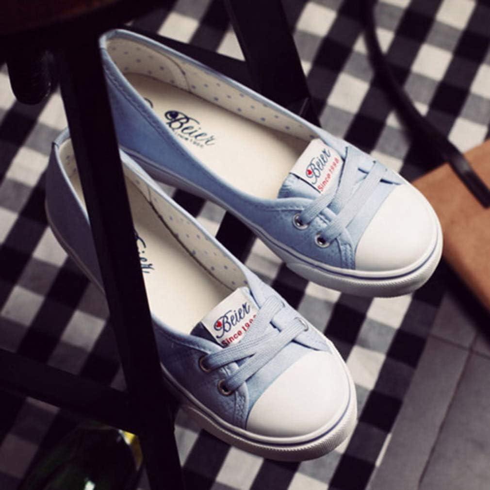 Mocassins Femme Loafers Casual Bateau Chaussures Respirant Chaussures /à Lacets Confort Chaussures en Toile L/éger Plat De Conduite Chaussures
