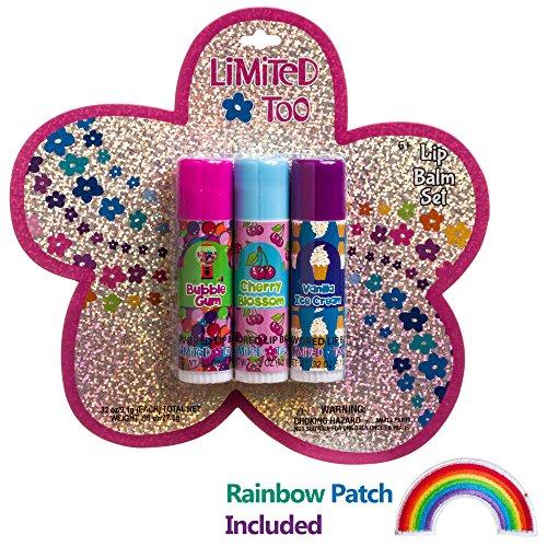 Lip Plumper Flavored Lip Gloss (Limited Too Girls Flavored Lip Balm Gloss Set For Kids Children (Set of)