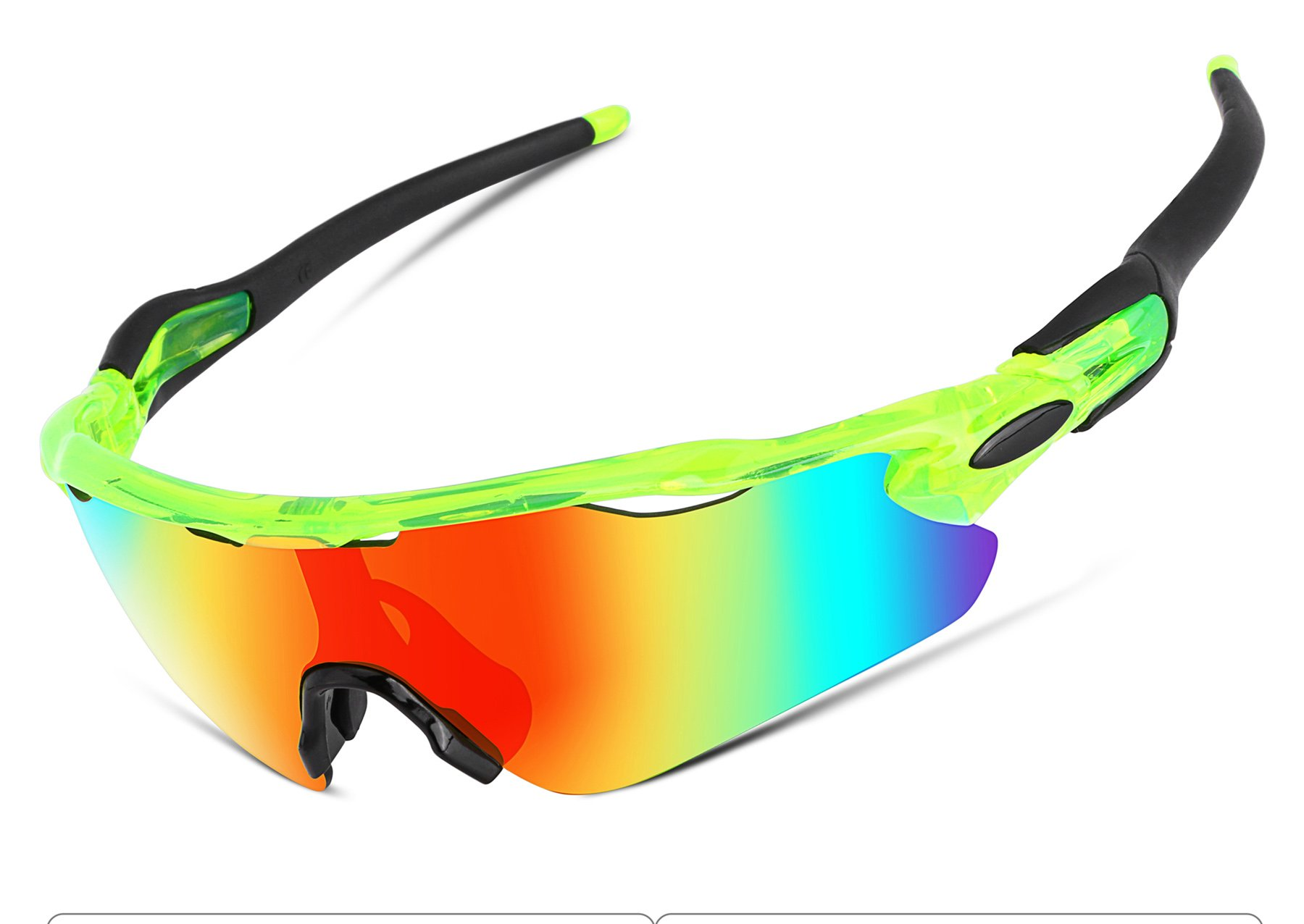 FEISEDY Polarized Sports Sunglasses Changeable Lenses TR90 Frame Cycling B2280 (3, 52)