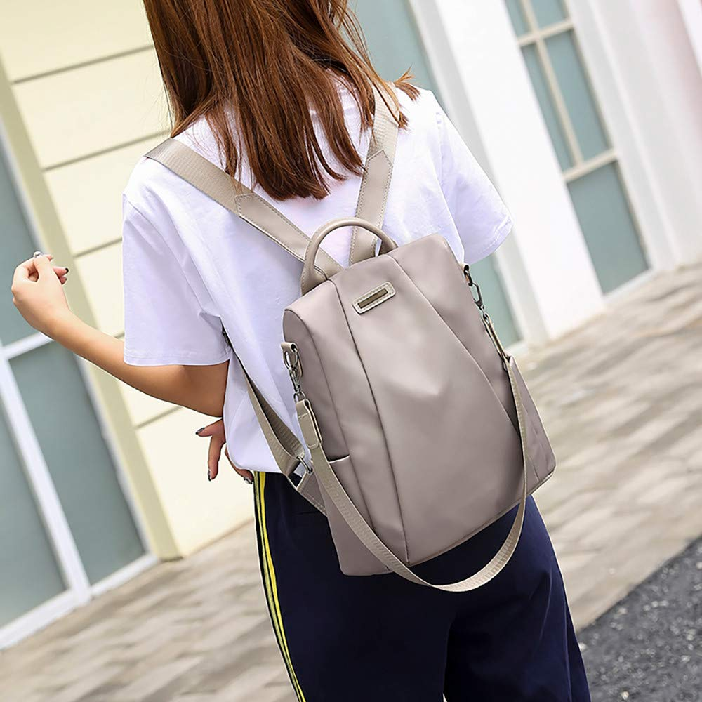 Clearance Sale Women Travel Backpack Oxford Cloth School Bag Carry Everywhere Tote Bags [Valentine's Day ] (Khaki) by Aurorax Bag (Image #4)