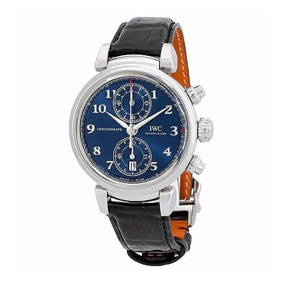 IWC da Vinci azul Dial Automático Mens Reloj cronógrafo iw393402: Amazon.es: Relojes