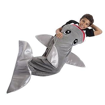 Milong Saco de Dormir de Forma Tiburón Súper Cómodo Divertido Perfecto Regalo Para Niños Bebé: Amazon.es: Bebé