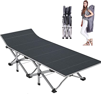 Folding Camping Cot with Carry Bag Portable Lightweight Rollaway Bed Guest US