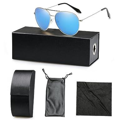 0c74122919 YZCX Gafas de Sol Polarizadas Aviador Unisex UV 400 Protección Gafas Marco  De Metal: Amazon.es: Ropa y accesorios
