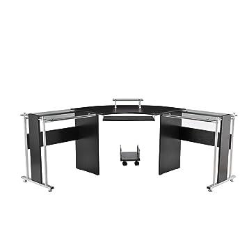 Black L Shaped Computer Desk