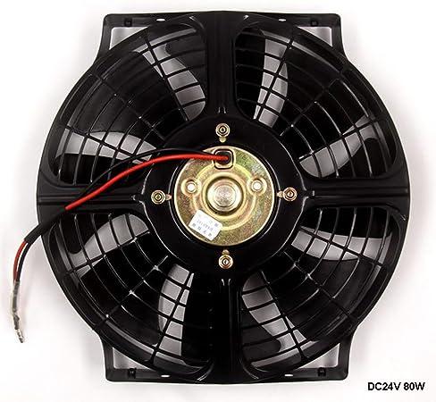 25,4 cm coche camión universal Slim Radiador eléctrico ventilador ...