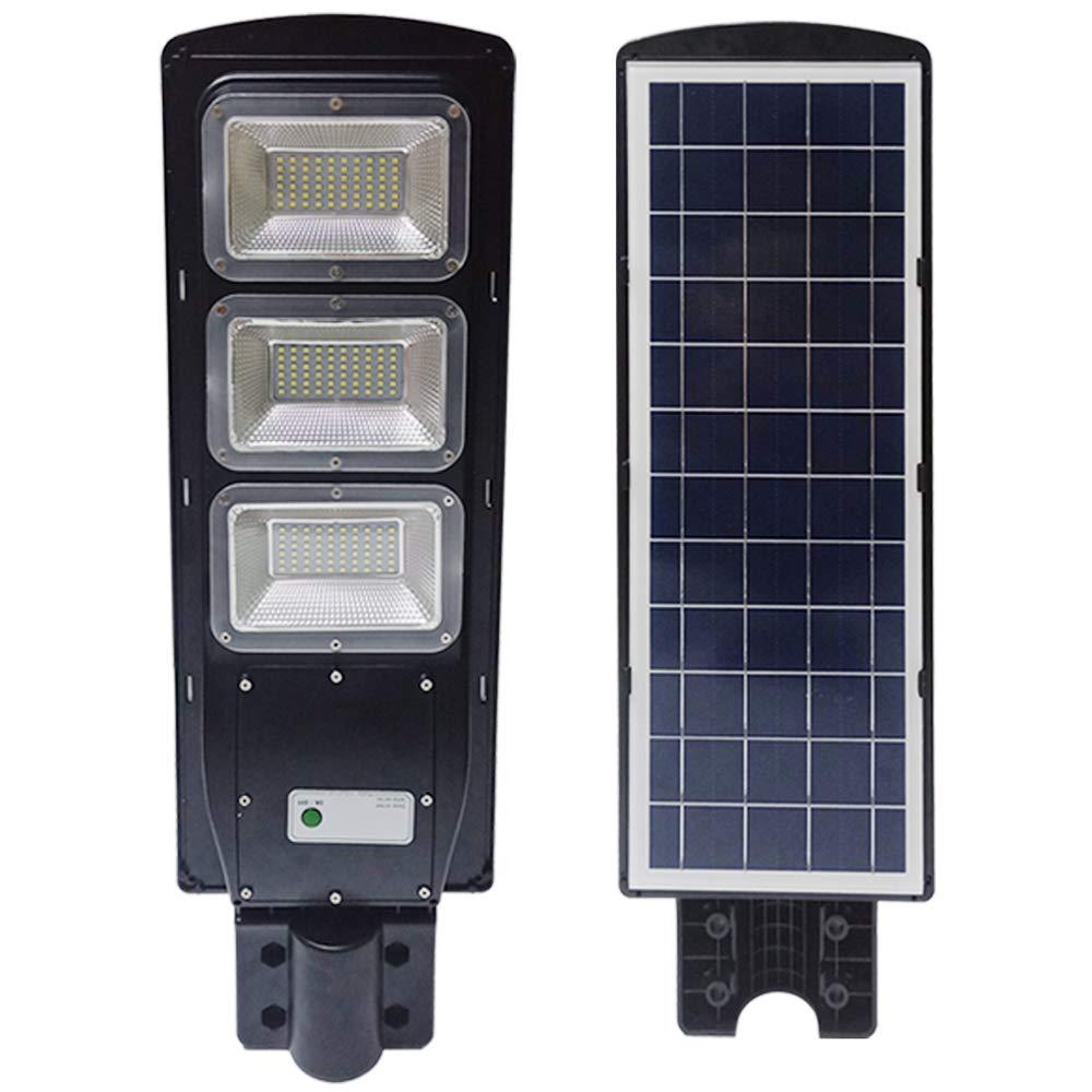 TAIMIKO 60W Solar Street Light, Parking Lot Lights 20000mAH Iron Phosphate Battery LED Street Light, Wireless-Waterproof IP65-Light/PIR Motion Sensor for Garage,Patio,Garden,Driveway (60W)