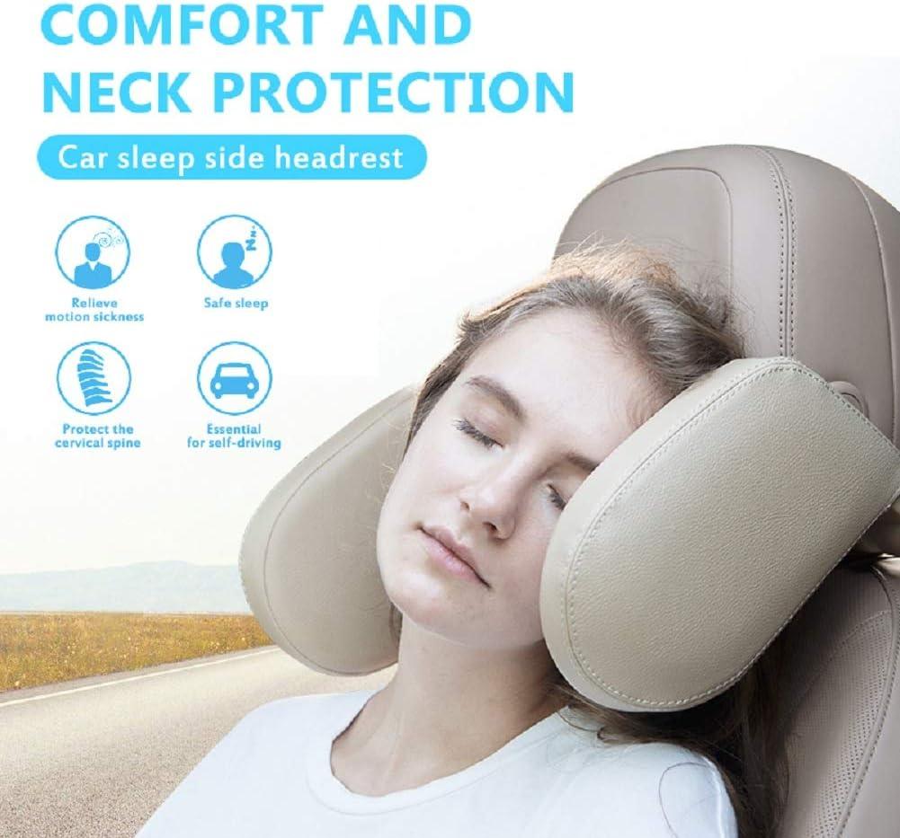 Almohada del asiento de autom/óvil en forma de U Soporte de viaje ajustable Protecci/ón de la almohada del cuello Columna cervical Adultos Ni/ños Almohada del reposacabezas del autom/óvil
