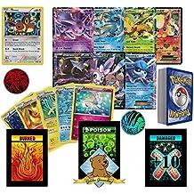 50 Random Pokemon Card Pack Lot - Featuring Eevee, 1 Ultra Rare Eeveelution, 3 Random Eeveelutions! Foils, Rares, Coin! No Duplication! Includes 3 Custom Golden Groundhog Tokens! by GoldenGroundhog