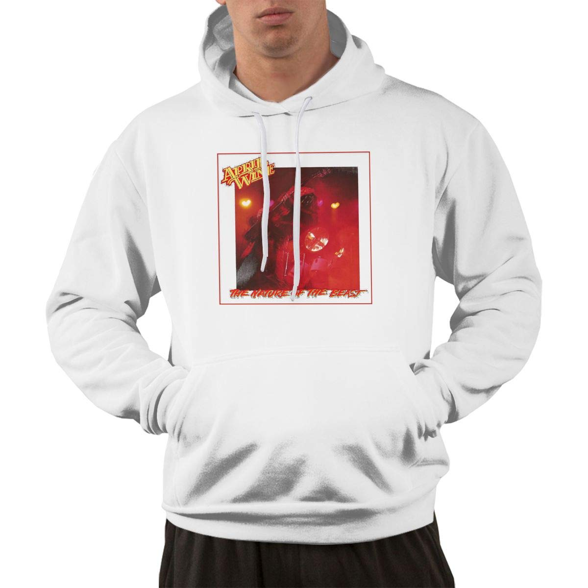 Erman Pullover Comfortable Print April Wine Music Band Cover Hooded Shirts With Pocket S