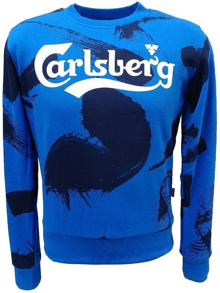 Carlsberg Herren Kapuzenpullover blau Elektrischblau