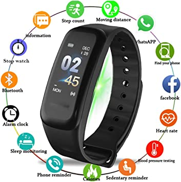 nuiko Hombres Mujeres Bluetooth Smartwatch LED Digital ...
