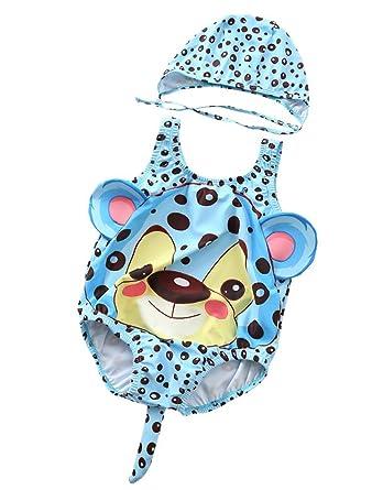 Fatchot Toddler Kids Baby Girls Cartoon Shark Cosplay Costume Swimwear Swimwear Bathing Suit with Hat Swimsuit Sets