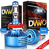 DWVO H11 H8 LED Headlight Bulbs, 6.5K 16000Lm Philips Chip Conversion Kit Hi & Lo Beam Super Bright IP68 Waterproof