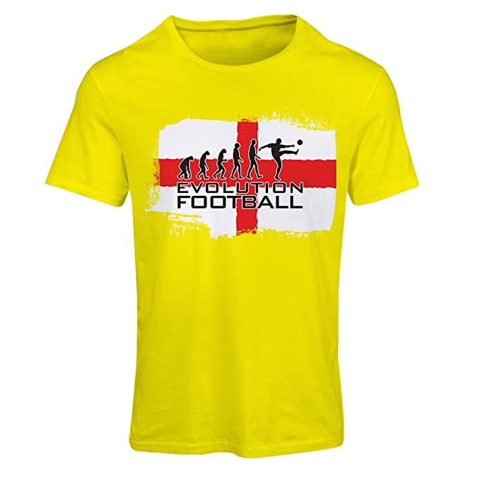 lepni.me Camiseta Mujer La evolución de fútbol - Inglaterra, Campeonato de Rusia 2018