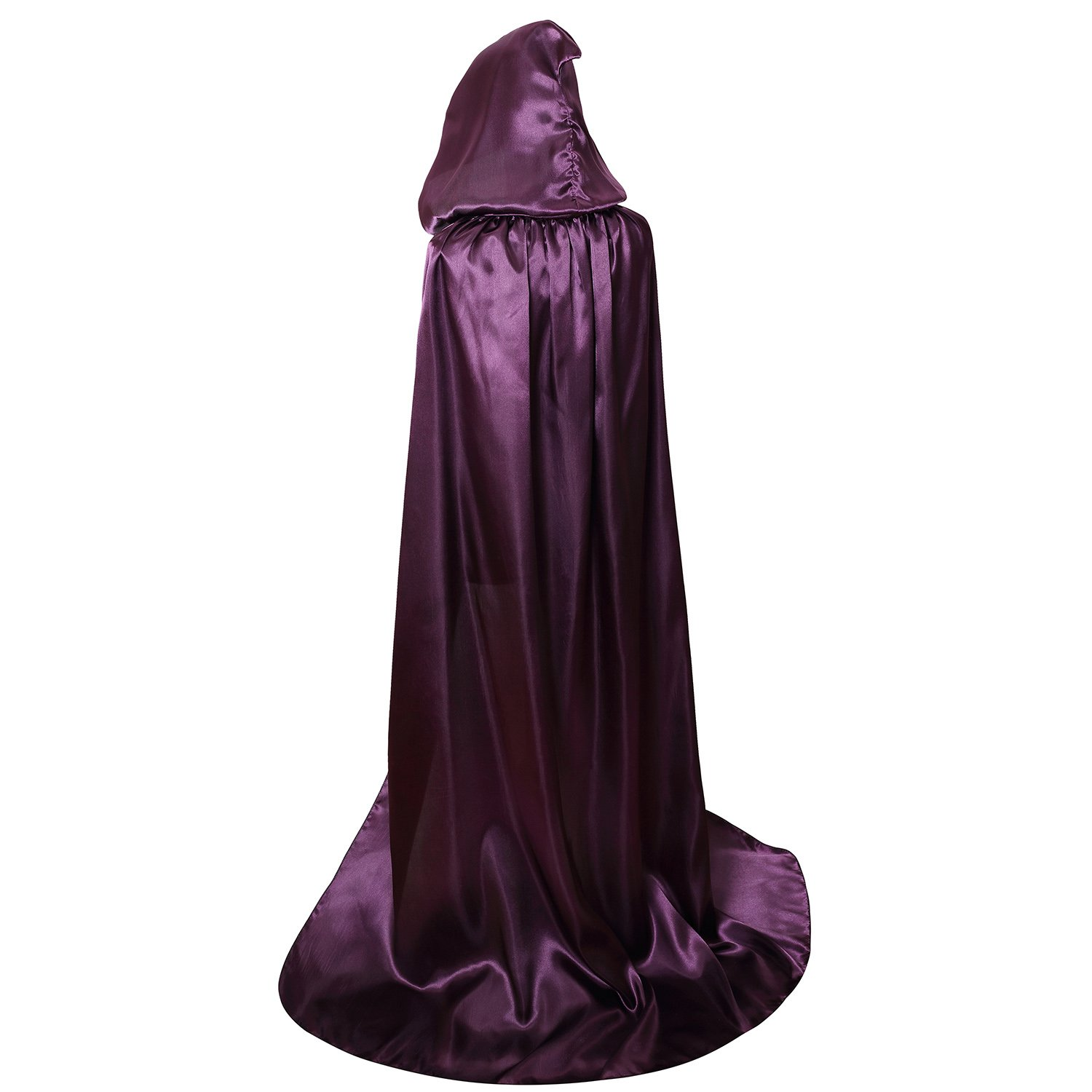 Unisex Hooded Cloak Coat Witch Robe Cape Long
